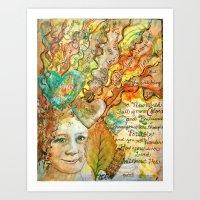 Fall, Girl Art Print