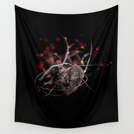 Heart and lights Wall Tapestry