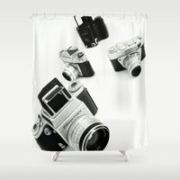 cameras Shower Curtains featuring cameras by Falko Follert Art-FF77