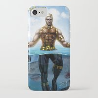 aquaman iPhone & iPod Cases featuring Aquaman by Art By AntB