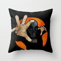 hocus pocus Throw Pillows featuring Hocus Pocus V2 by Matthew Dunn