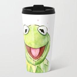Frog Kermit Portrait Travel Mug