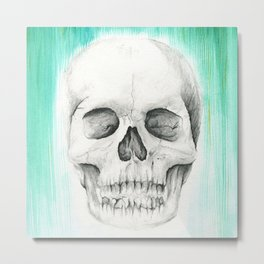 Fall with Water - Skull Metal Print
