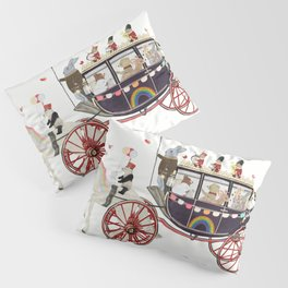 the rainbow carriage Pillow Sham