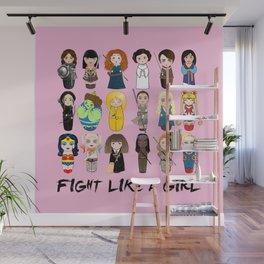 Kokeshis Fight like a girl Wall Mural
