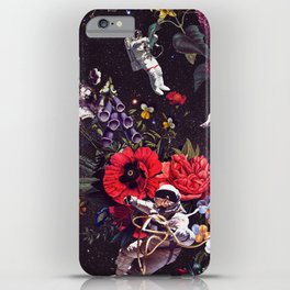Flowers and Astronauts iPhone Case