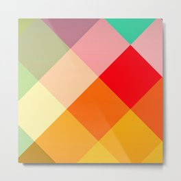 HAPPY COLORS GEOMETRIC PRINT DECOR Metal Print