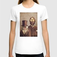 victorian T-shirts featuring Victorian Robots  by Terry Fan