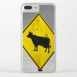 Pow Pow Cow Clear iPhone Case