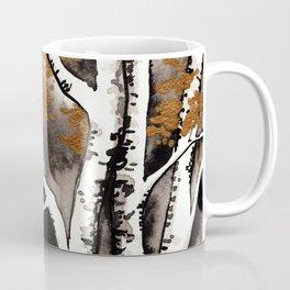 Black and Gold Birch Coffee Mug