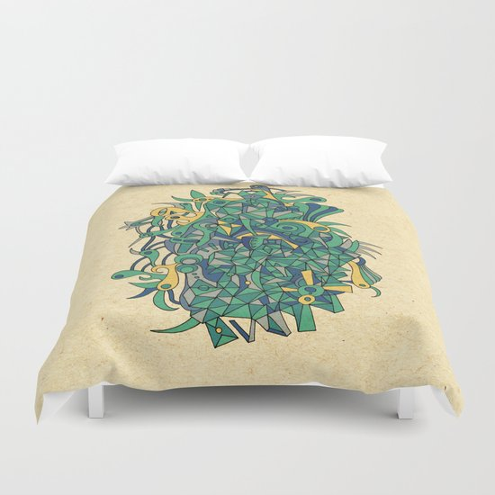 - woman & sea - Duvet Cover
