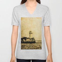 Old Lighthouse (vintage) Unisex V-Neck