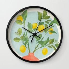 vase branche stillife abstract shapes Wall Clock
