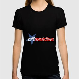American star- American flag colors and star- 4th of July independence day T-shirt