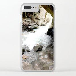 Climbing Down to the 200-Foot Depths of Box Canyon Falls Clear iPhone Case