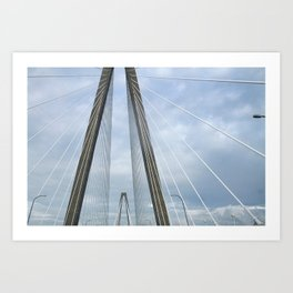 Charleston Arthur Ravenel Jr. Bridge Art Print