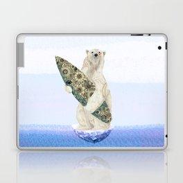 Polar bear & Surf (black) Laptop & iPad Skin