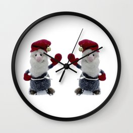 "Nordic Nisse Says ""Hello!"" Wall Clock"