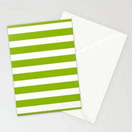 Spring Fresh Apple Green & White Stripes - Mix & Match with Simplicity of Life Stationery Cards