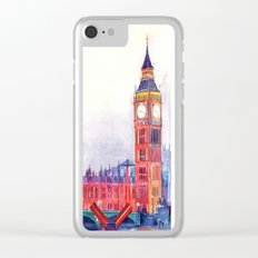 Sunset in London Clear iPhone Case