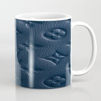lv Mugs featuring Blue LV by I Love Decor