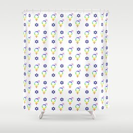 transgender and star of david Shower Curtain
