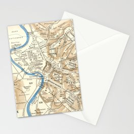 Vintage Map of Rome Italy (1870) Stationery Cards