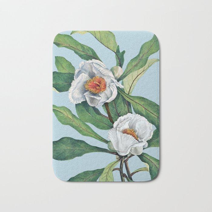 Franklin tree flowers Bath Mat