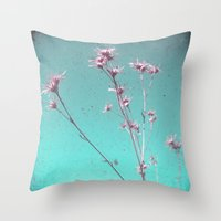 alone Throw Pillows featuring Alone by Cassia Beck