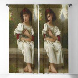 """Elizabeth Jane Gardner Bouguereau """"In the Garden"""" Blackout Curtain"""