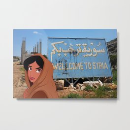 Welcome to Syria Metal Print