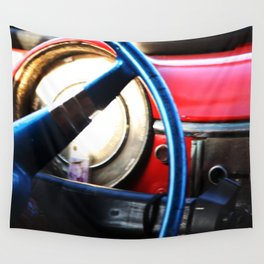 Car Drive in Cuba Wall Tapestry