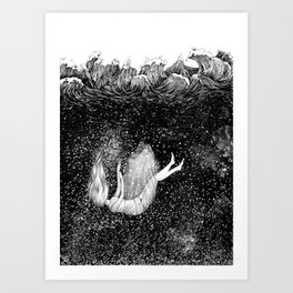 The Stars Beneath the Waves Art Print