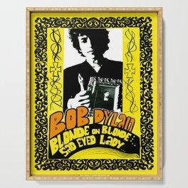 Vintage 1967 Bob Dylan Blonde on Blonde Concert Gig Poster Serving Tray