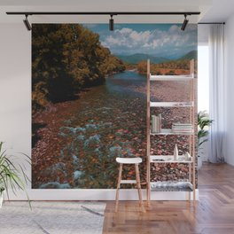 Autumn mountain river #photography #landscape Wall Mural
