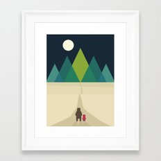 Long Journey Framed Art Print