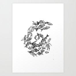 Fibonafish Art Print
