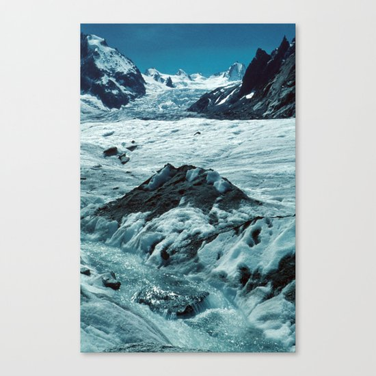 MELTING ICE #1 - Up in the Mountains Canvas Print