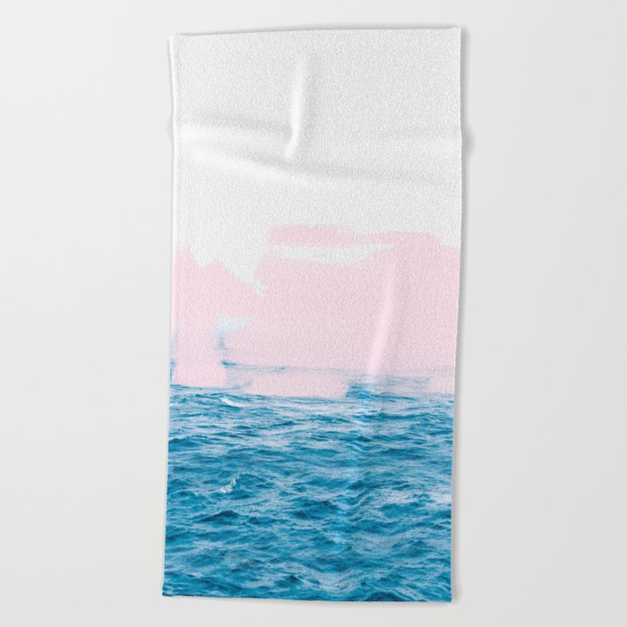Ocean + Pink #society6 #decor #buyart Beach Towel