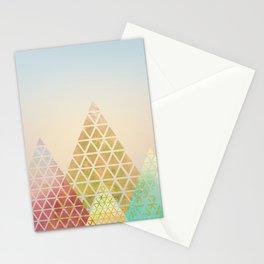 Geometric Christmas Trees 2 Stationery Cards