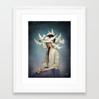 christian Framed Art Prints featuring The Beginning by Christian Schloe