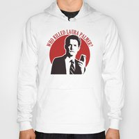 laura palmer Hoodies featuring Who killed Laura Palmer twin peaks by Buby87
