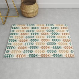 SCANDI GARDEN 01-10, nature colors on ivory Rug