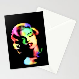 Marilyn Monroe Rainbow Colors  Stationery Cards