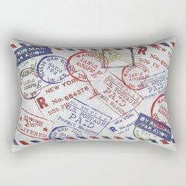 Vintage Postage Stamps grunge Design Rectangular Pillow