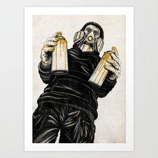 Spray Time Art Print