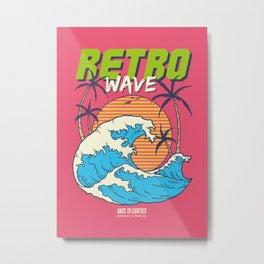 Retro Wave Metal Print