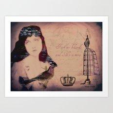 Beloved collage Art Print