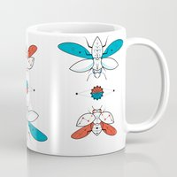 insects Mugs featuring Two Insects II by Ukko