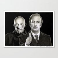 better call saul Canvas Prints featuring Better call Saul by Giampaolo Casarini